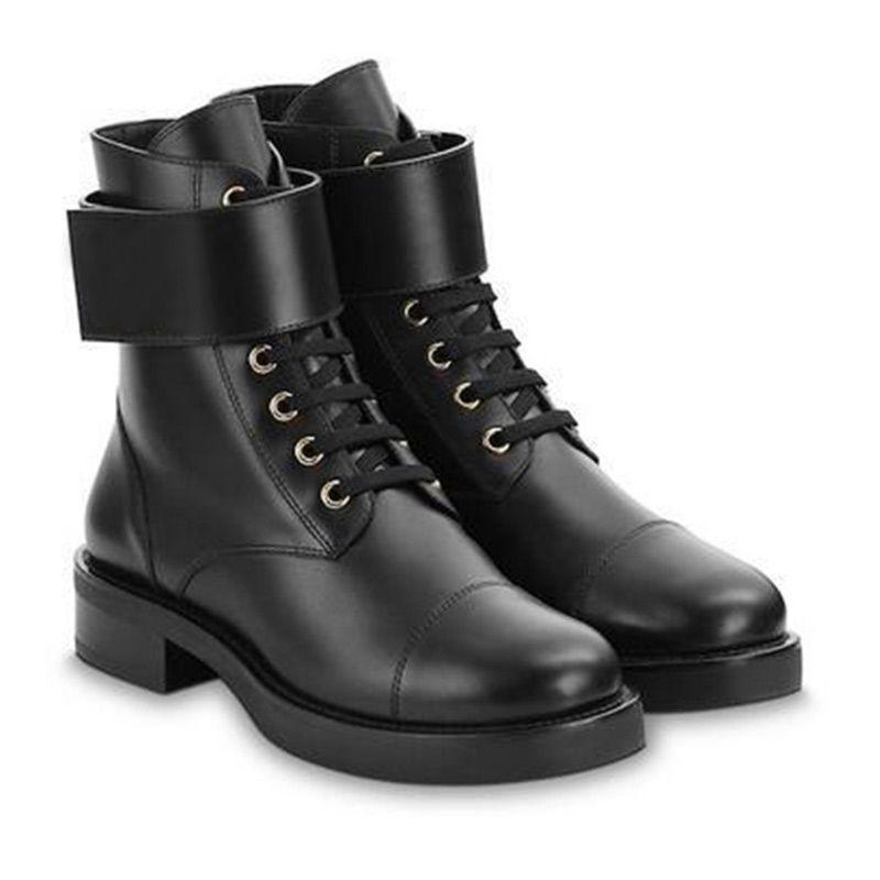 Mulheres botas quentes Moda Classic presbiopia Preto Martin inicialização da bracelete de couro Sapatas superiores altas Grosso Com Botas transporte da gota Type4
