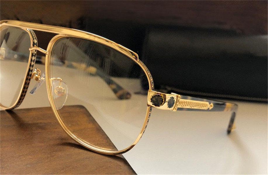 جديد الرجال النظارات البصرية تصميم نظارات مربعة إطار معدني نمط واضح عدسة أعلى جودة مع القضية
