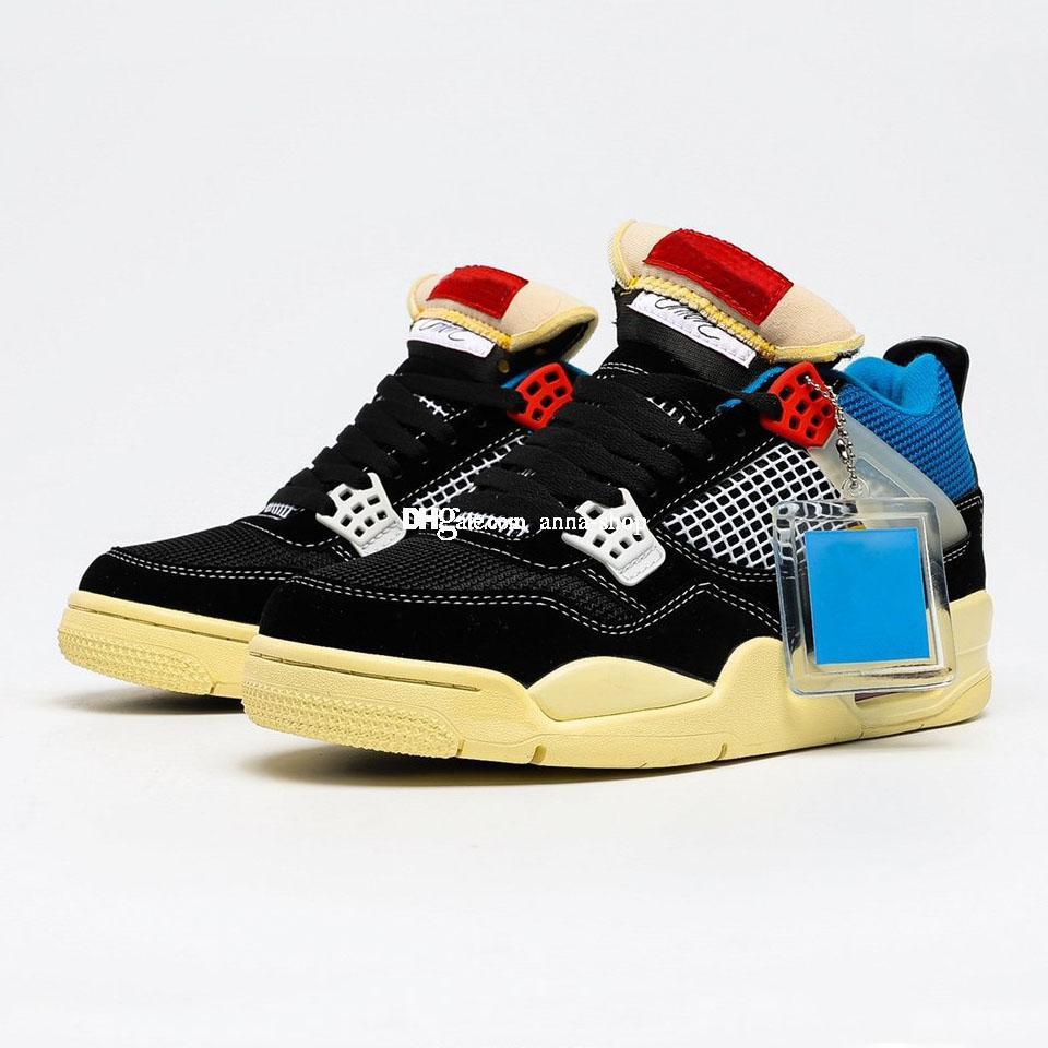 Jumpman IV 4s dell'Unione LA SP Noir scarpe da basket per gli uomini di scarpe Guava Ice Sneakers Mens Sneaker sport delle donne di Donne Sport Scarpe
