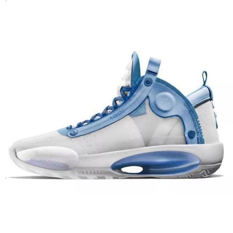 34-diseñador nueva Jumpman para hombre zapatos de baloncesto XXXIV 2020 Azul 34s Void Eclipse Retro Deportes zapatillas de deporte tamaño atlético con nosotros 7-12
