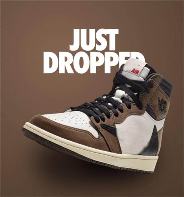 New Release Travis Scott X 1S High OG TS SP 1 Мужская Низкая Баскетбольная обувь Парусник Темный Мокский Университет Открытый Кроссовки CD4487-100 US7-13