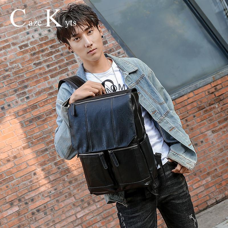 Heißen Verkauf Mens Authentisches Leder Retro-Mode-Männer beiläufigen Schulter-Beutel-Spielraum Bagpack Studenten Computer-Rucksack Jugend Taschen sqceMP myhome001