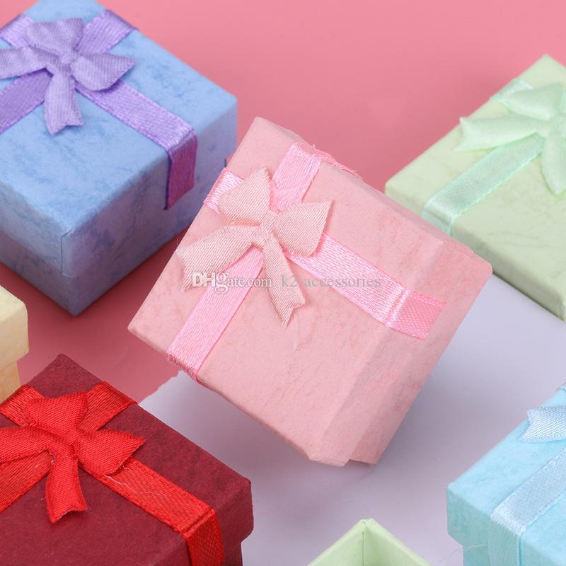 """48 sztuk Biżuteria Pudełko do pierścienia Kolczyk Wisiorek Wyświetlacz 4 CM (1.6 """") * 4 cm (1,6"""") * 3 cm (1.2 """") Wymieszaj 4 kolory"""