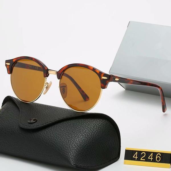 2020 Occhiali da sole polarizzati di lusso Uomo Donna Occhiali da sole pilota UV400 Driver per occhiali UV400 Telaio in metallo Polaroid Lente Polaroid con scatola TDJTD