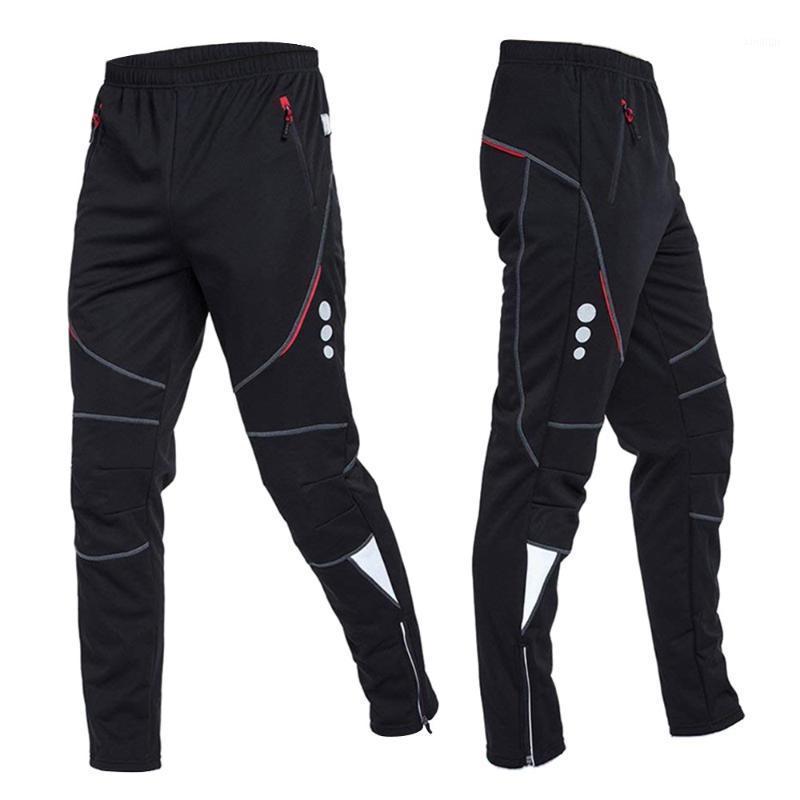Мужской ветрозащитный тепловой флис велосипедные штаны1