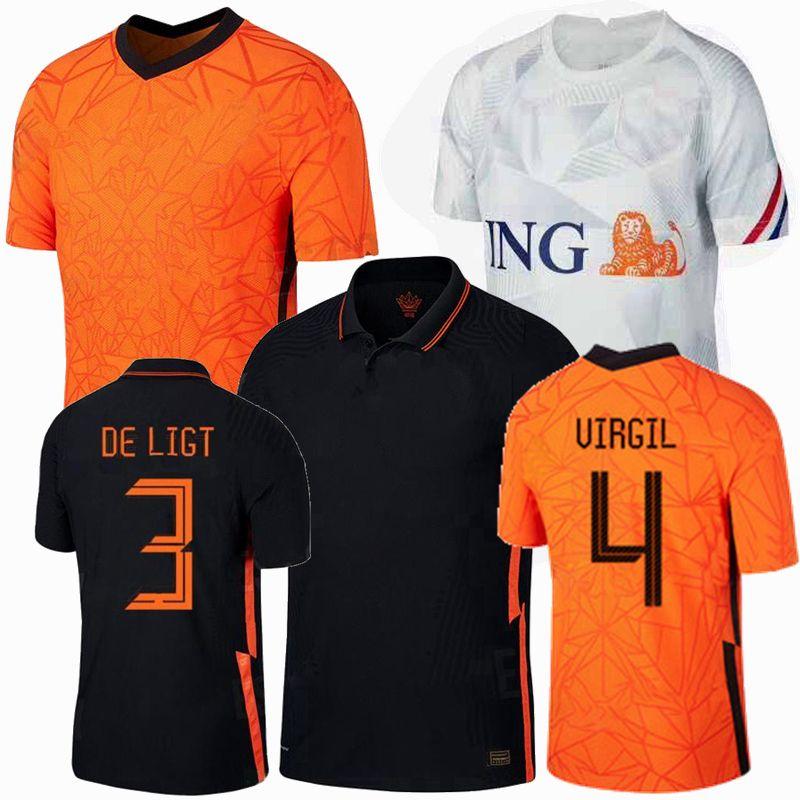 20 21 Hollanda futbol forması milli takım F.DE JONG Memphis DE ligt 2020 2021 futbol forması erkekler kadınlar ve çocuklar Spor Formalar 4XL