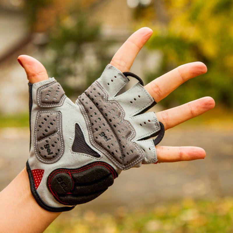 GUB-Ausdauer Radfahren Fahrrad Fahrrad Fingerlose Silikon Halbshort Finger Extra Gel Handschuhe Doppel Gelvent Polsterung