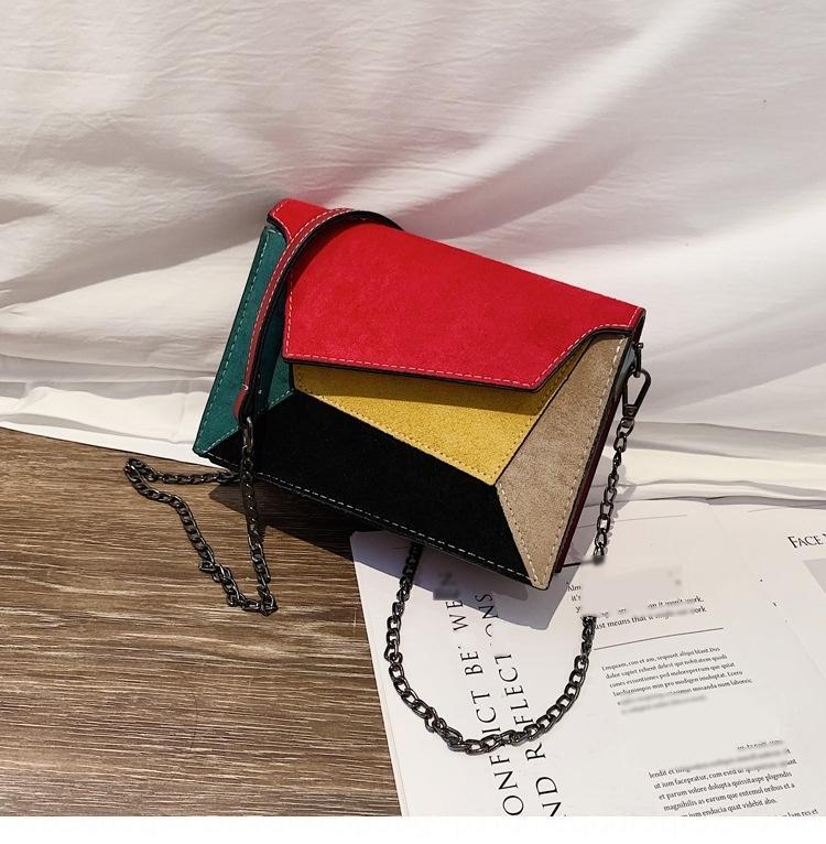 sonbahar kış Üstüne binilir kadın El küçük kare çanta yeni renk kontrastı küçük kare çanta Koreli bir omuz çantası s7A2O buzlu