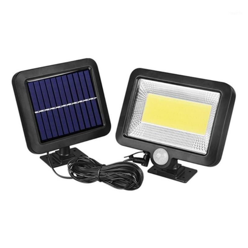إشارة المرور 100LEDS الطاقة الشمسية في الهواء الطلق حديقة السياج ماء فناء الأمن البير الأشعة تحت الحمراء استشعار الحركة الخيالة ليلة lamp1