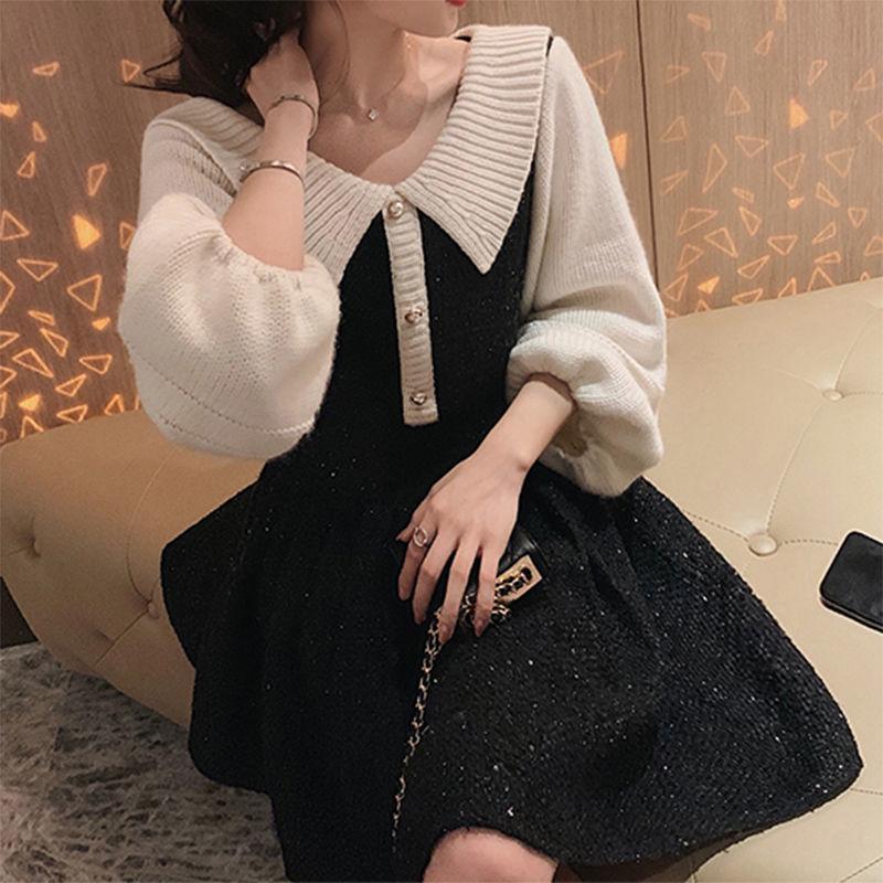 Новый Винтаж 2021 Декольте V Элегантный рукав Длинный Высокий Высокий Миди Линия Сетка Сексуальный Стиль Глубокое Белое платье Y261 T8B4
