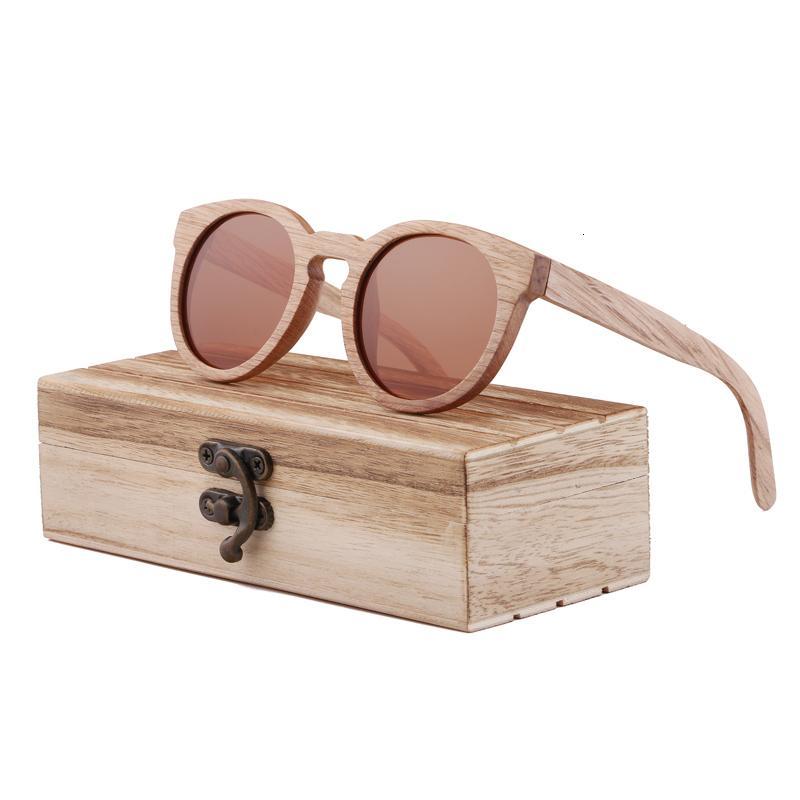 Berwer Polarized Wooden Bamboo Sunglasses Hombres Top Top Brand Design Original UV Protección Gafas de sol Oculos de Sol en caja de madera