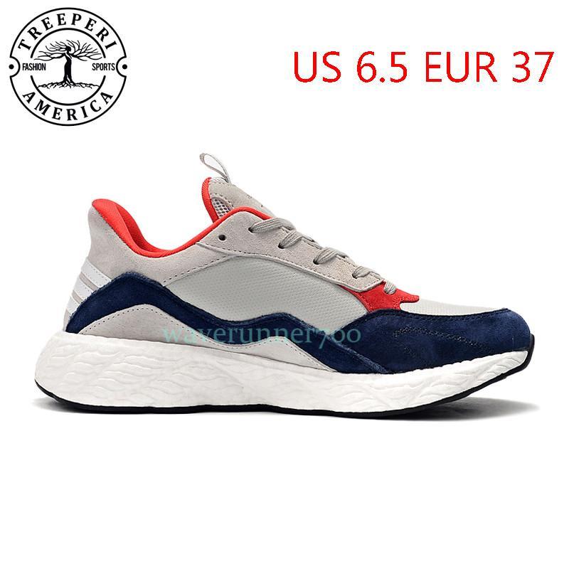 Top Treeperi Runner Runner V2 Мягкая подошва кроссовки серый ВМС США 6.5 EUR 37 для женщин тренеров