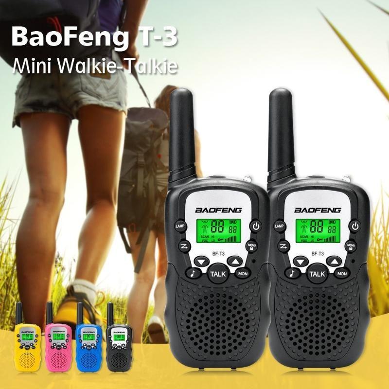 1Pair Baofeng BF-T3 Mini Дети Walkie Talkie Handy 22 Channel Two Way Радио Kids 10 вызовов Тональные UHF трансивер T3 Communicor