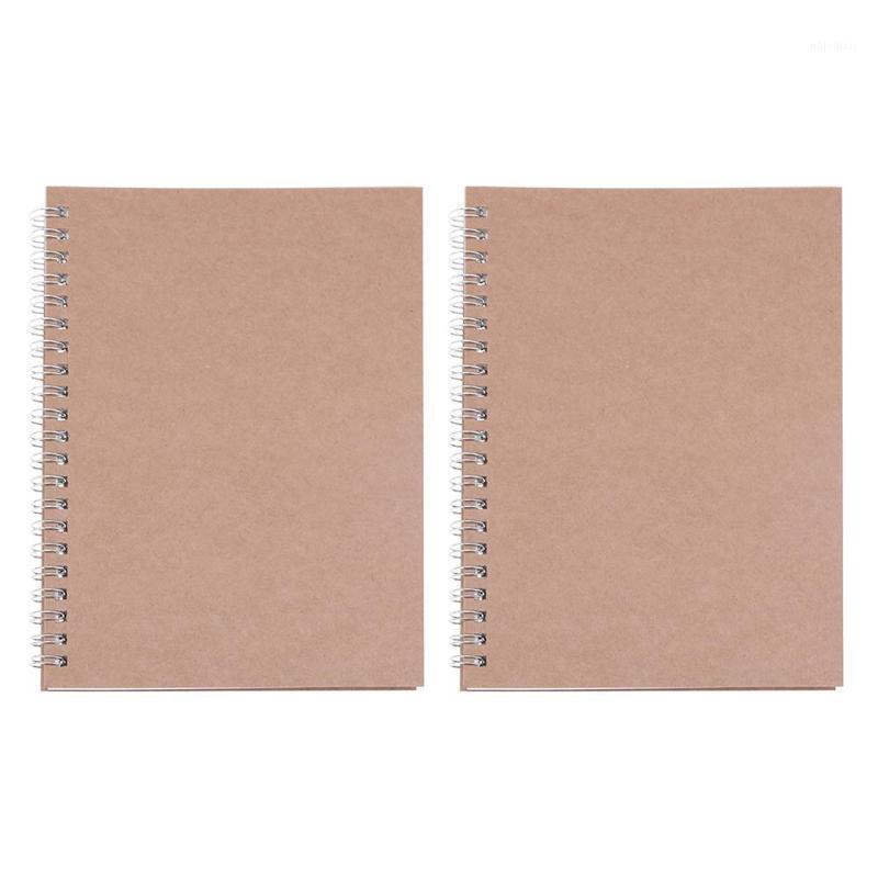 2 pcs retro espiral bobina grade esboque caderno diário diário estudante memo1