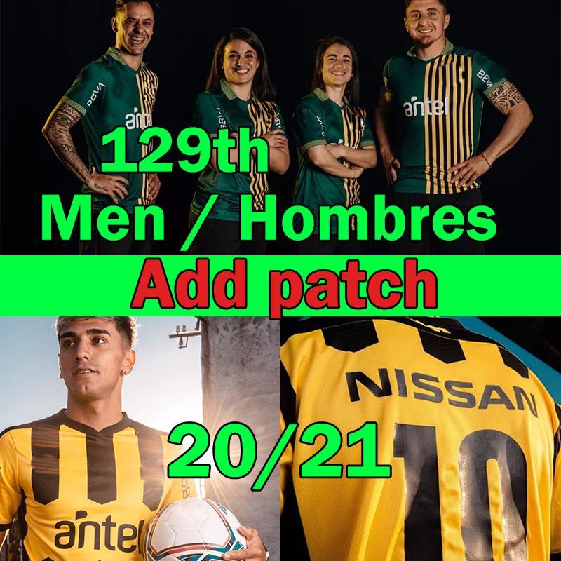 أوروغواي نادي أطلستيكو Peñarol Soccer Jersey 2020 2021 129th Tommorative Edition قميص New Home Football X.Jiménez C.Rodriguez F.Torres 2XL