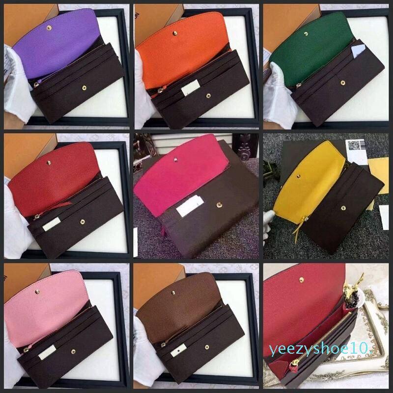 Womans Portemonnaie langen Wallet Multicolor Designer Wallet bunte Visitenkarte-Kasten Original für Dame Geldbörse Reißverschluss Pocke Fall y10