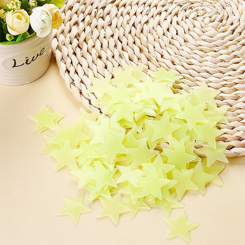 3d estrelas brilham no escuro adesivos de parede luminosas adesivos de parede para crianças sala de bebê quarto quarto decoração 105 J2