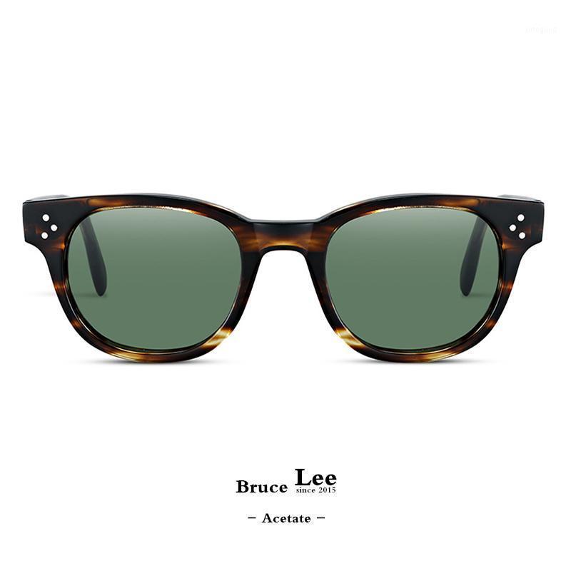 Güneş Gözlüğü Yüksek Kalite Marka Tasarımcısı Polarize Erkekler için Seyahat Retro Kare Asetat Perçin Güneş Gözlükleri Sürüş Gözlük OV52361