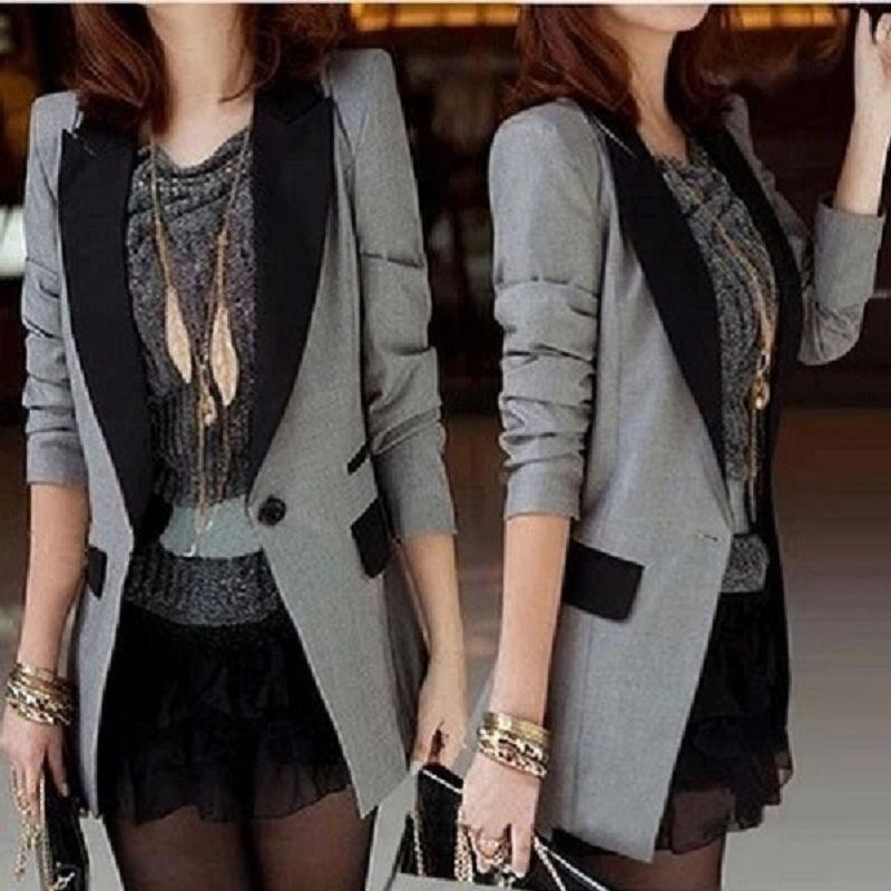 2021 Neue Herbst Frauen Chic Anzug Blazer Weibliche Beiläufige Langarm Büro Mäntel Damen Slim Outwear Mode Langarm Jacke Q45