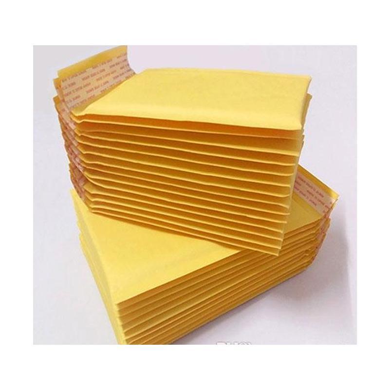 Sıcak Yeni 3.9 * 7.8 inç 100 * 200mm + 40mm Kraft Kabarcık Mailers Zarflar Wrap Çanta Yastıklı Zarf Posta Paketleme P SQCGQO HOMES2007