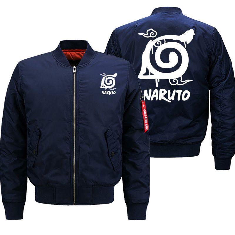 Naruto Japan Anime New 2019 Aututmn Winter Men Streetwear Warm Clothing Bomber Jacket Cartoon Printed Fashion Coat Thick