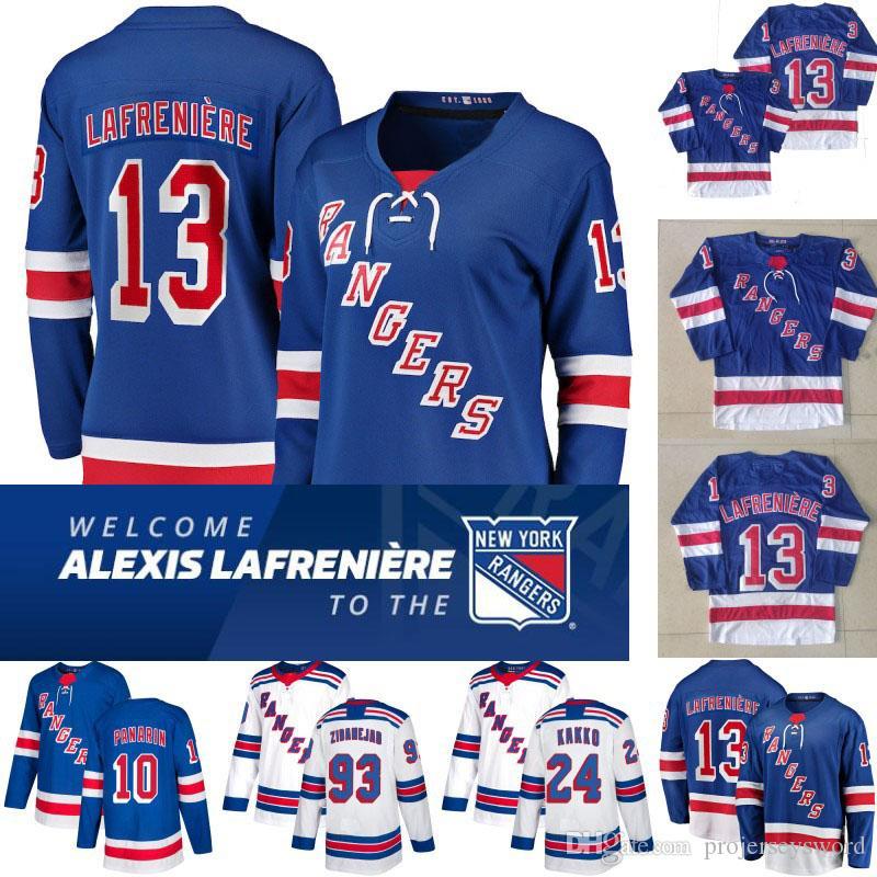 Womens New York Rangers Jersey 13 Alexis Lafreniere 10 Artemi Panarin 24 KAAPO Kakko 89 Pavel Buchnevich 93 Mika Zibanejad 8 Jacob Trouba