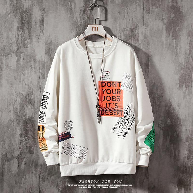 Imprimer Sweats à capuche Sweats à capuche surdimensionné Hommes Harajuku Hip Hip Hipster Streetwear Sweat à capuche Sweat à capuche Spring Automne Housses à manches longues occasionnelles