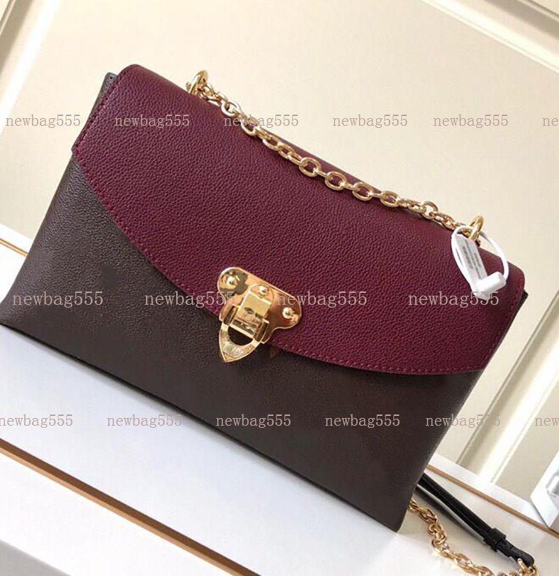 2020 Kadınlar omuz çantası yeni moda gerçek deri crossbody çanta zincir çanta gündelik büyük volum torbaları siyah, kırmızı renk