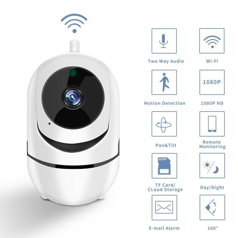 Smart Camera Wifi Camera HD 1080p Wireless IP Nuvem Auto Tracking inteligente da humana Home Vigilância