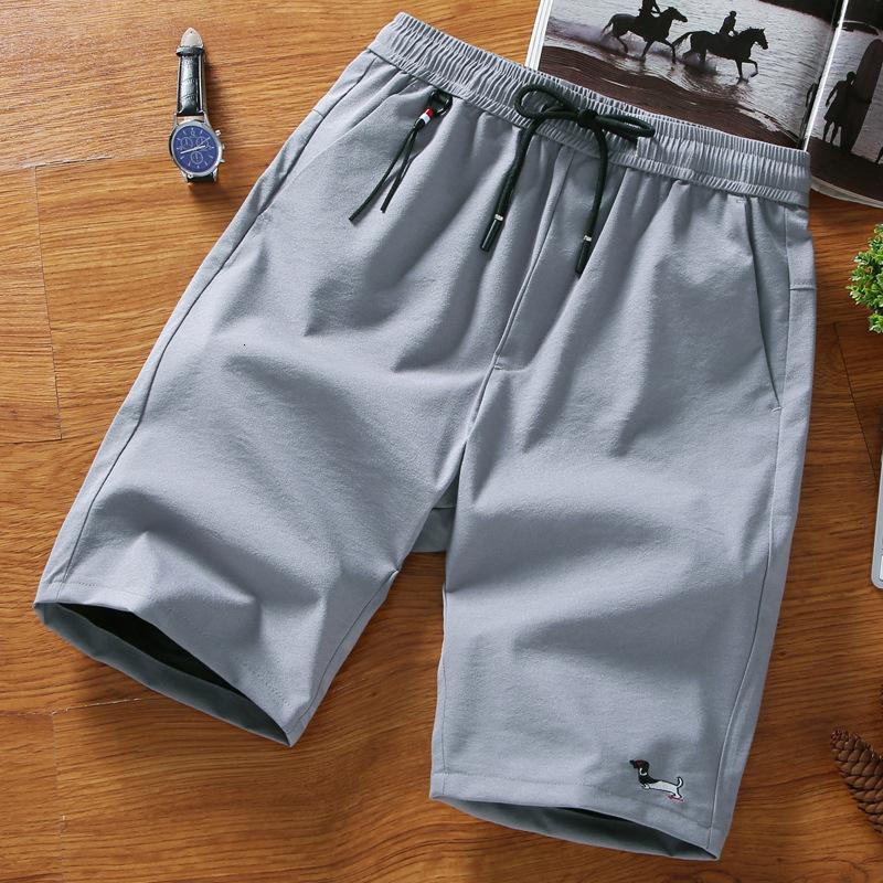 Летнее белье Capris против морщин шорты мужские пляжные брюки-1865