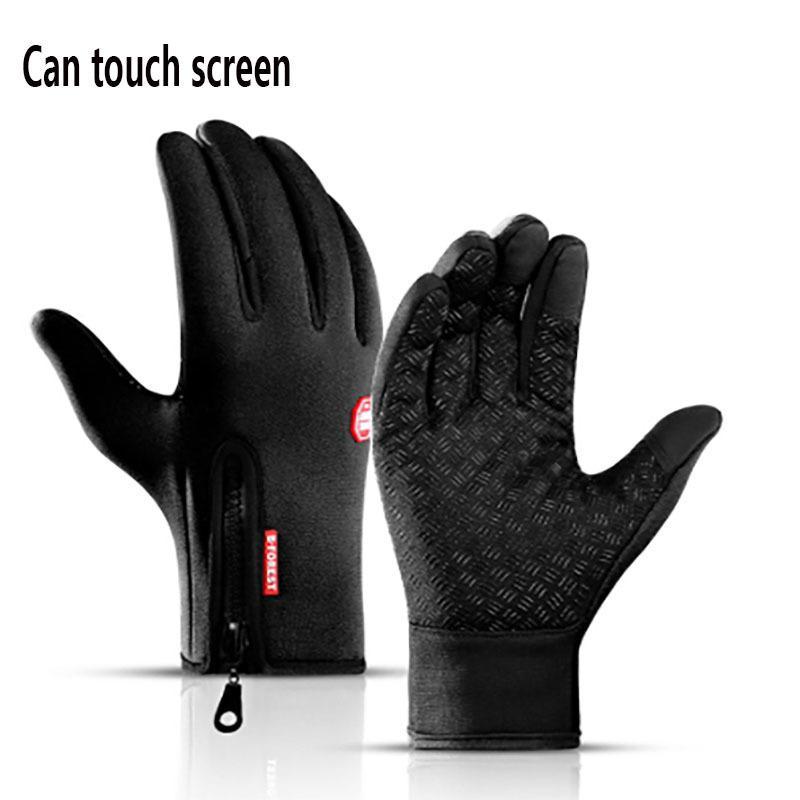 Стоит зимний велосипедный велосипед теплый сенсорный экран полный палец открытый водонепроницаемый перчатки варежки мужчин CN (происхождение)