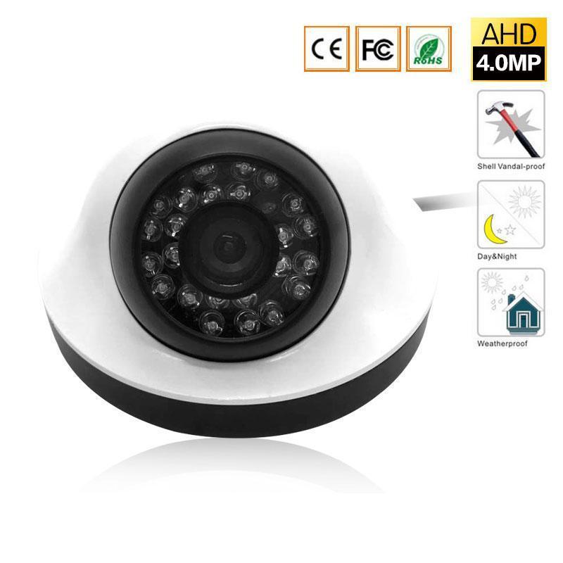 4MP Security Dome Camera, 4 Megapixel CCTV-Kamera für AHD-DVR-Überwachungssystem mit 24 IR-Schnitt-LEDs für Nachtsicht 100ft,