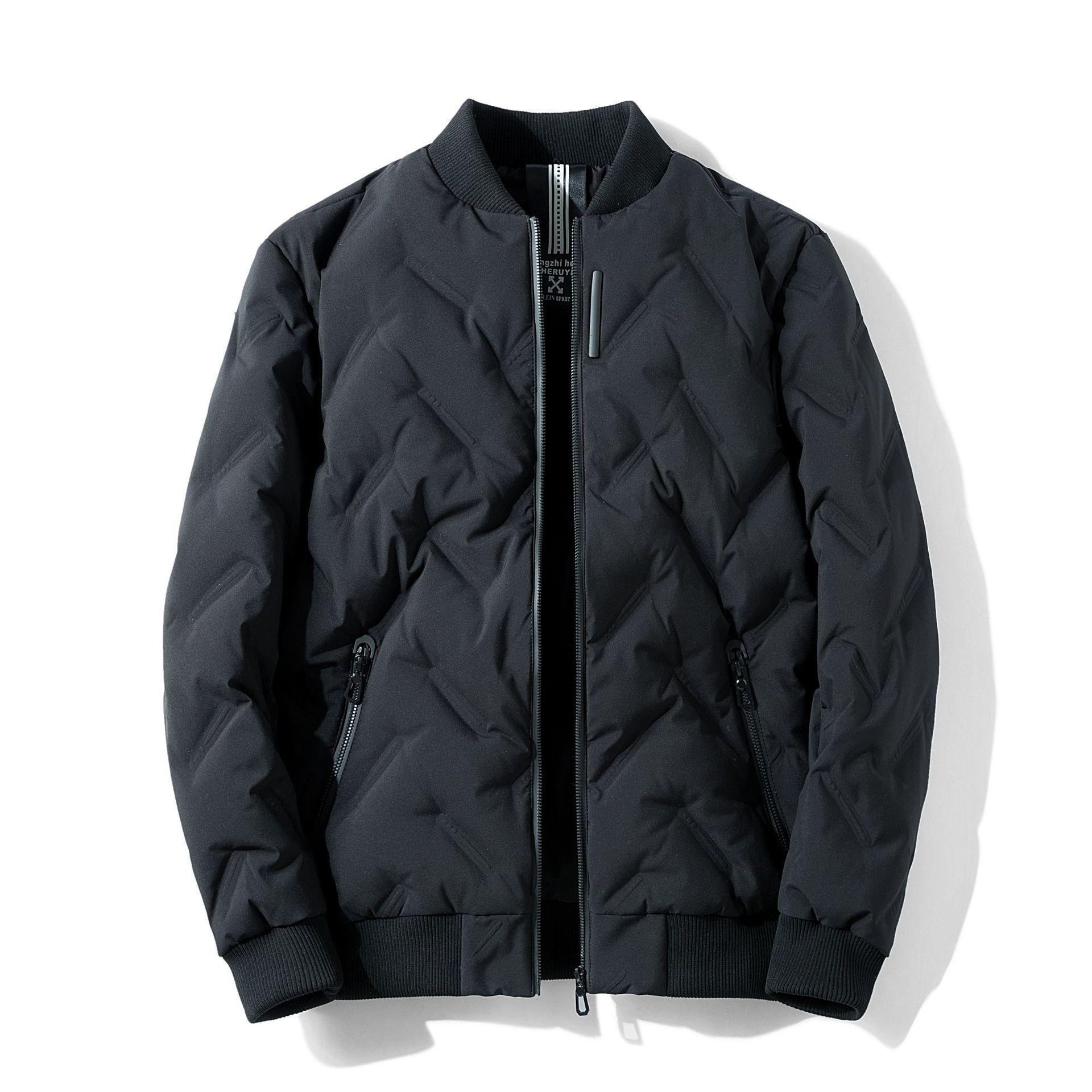 2021 Le nouveau nouveau manteau d'hiver léger vers le bas mâle longueur moyenne 09PV