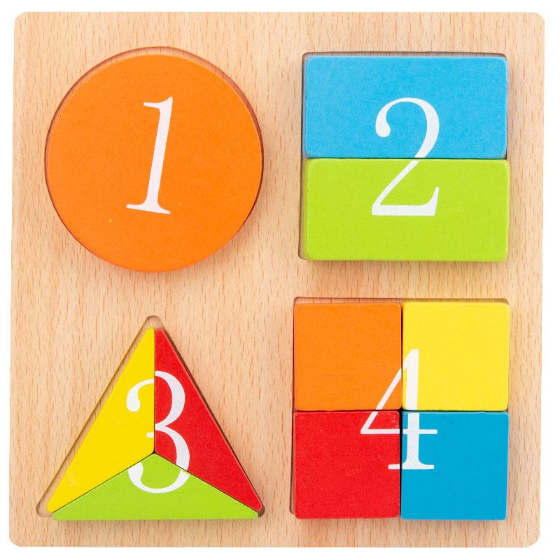 Bunte Form Inlay Spielzeug Holzform Erkennung Frühes Lernen Spielzeug Eltern-Kind-Interaktion 2021 Heißer Verkaufsgeschenk des Kindes
