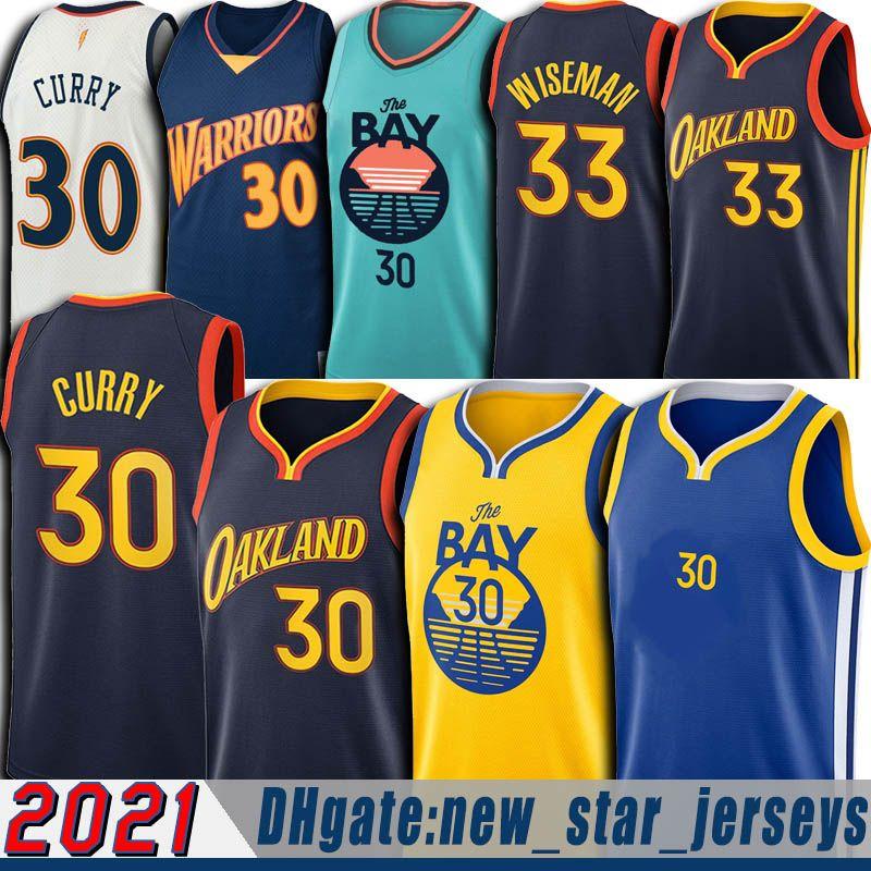 Stephen 30 Köri Jersey James 33 Wiseman Formalar Klay 11 Draymond Thompson Yeşil Formalar Basketbol Üniforma