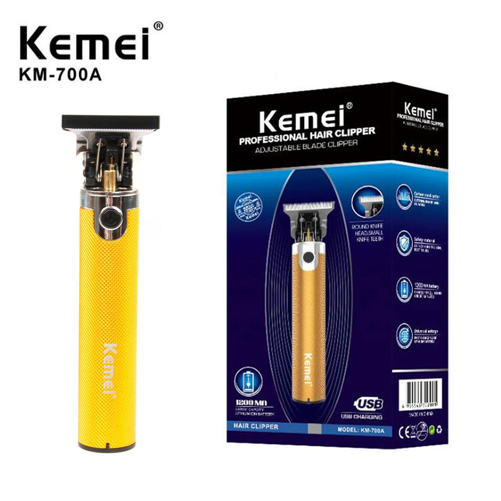 Otantik Kemei KM-700A berber dükkanı elektrikli saç kesme makinesi profesyonel saç makinesi sakal düzeltici şarj edilebilir kablosuz aracı