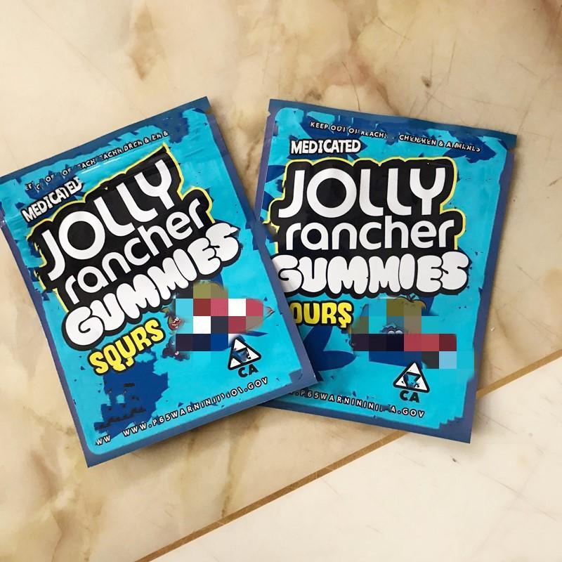 New Jolly Rancher Gummies Gummies Imballaggio acido Mylar Bags 600G Edibles Packaging Commercio all'ingrosso 2020 spedizione gratuita DHL spedizione gratuita