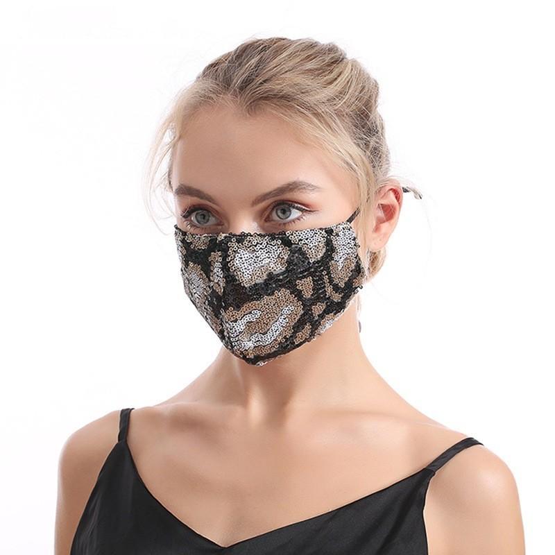 Homem mulher poeira impermeável máscaras cor leopard impressão Dobrável lavável adulto máscara de gaze venda 5 2jy j2