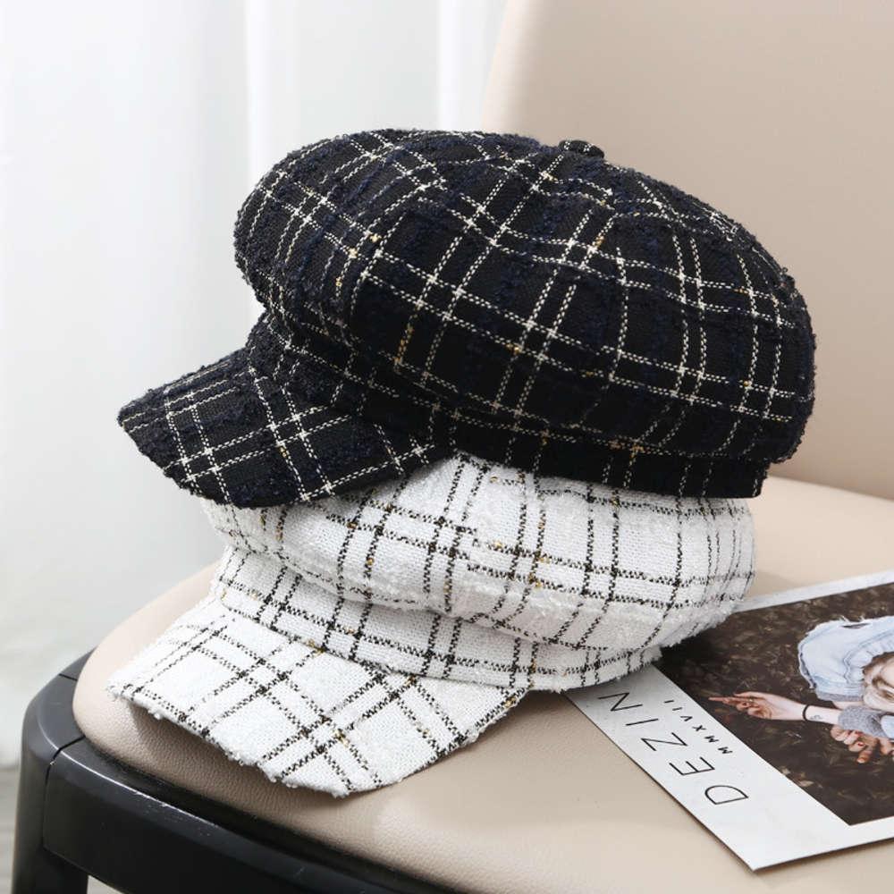 Şapka kadın sonbahar kış güneşlik ördek dili çocuk ressamın ekose seyahat genç erkek ve kadın aynı