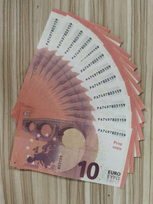 Euros Meilleure qualité PROP ARGENT BUBLET 10 20 50 100 200 500 EUROS Faux Movie Money Jouer de l'argent 100pcs / Pack