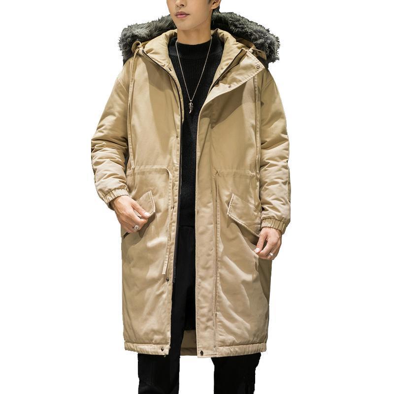 Nuovo rivestimento in cotone-imbottito da uomo invernale lungo giacca invernale per uomo cappotto lungo parka calda