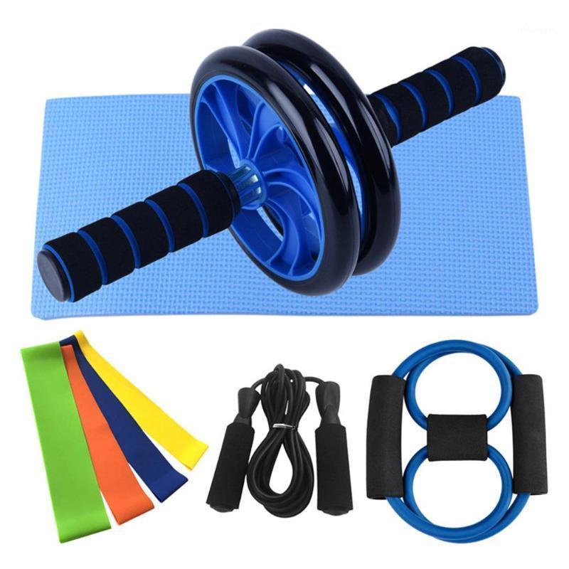 8 en 1 Kit de aptitud física Kit de entrenamiento de rueda abdominal AB con cuerda Salta para el hogar Gimnasio Ejercicio Equipo de fitness Accesorios1