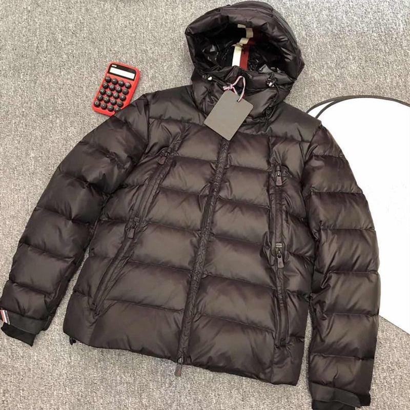 Uomini giacca invernale dimensioni confortevoli morbido piumino 90% piuma d'oca leveda casuale cappotto di modo maya 1-6