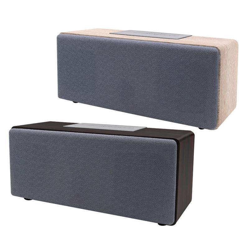 Parleur sans fil haut-parleur portable Bluetooth avec le système de son cas en bois pour ordinateur portable Tablet