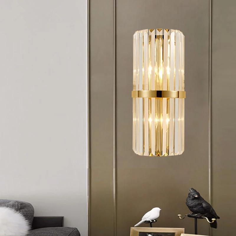 Lampada da parete semplice Nordic oro Ferro di cristallo Soggiorno creativo decorativo lampada da parete Corridoio Camera Lampada da parete Corridoio