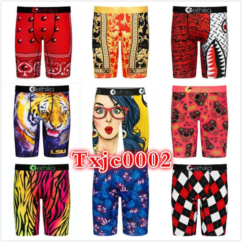 Homens Ethika Swimsuit Designer Novo 2021 Tendência Impresso Estilo Moda Elegante Single Shorts Yoga Calças Underwear Quick Seco Briefs Boxers