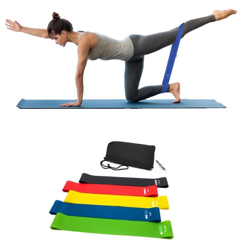Oporniki oporowe 5 szt. Fitness Latex Yoga Crossfit Stretch Silne Guma Band Sport Home Napięcie Siłownia Trening treningowy