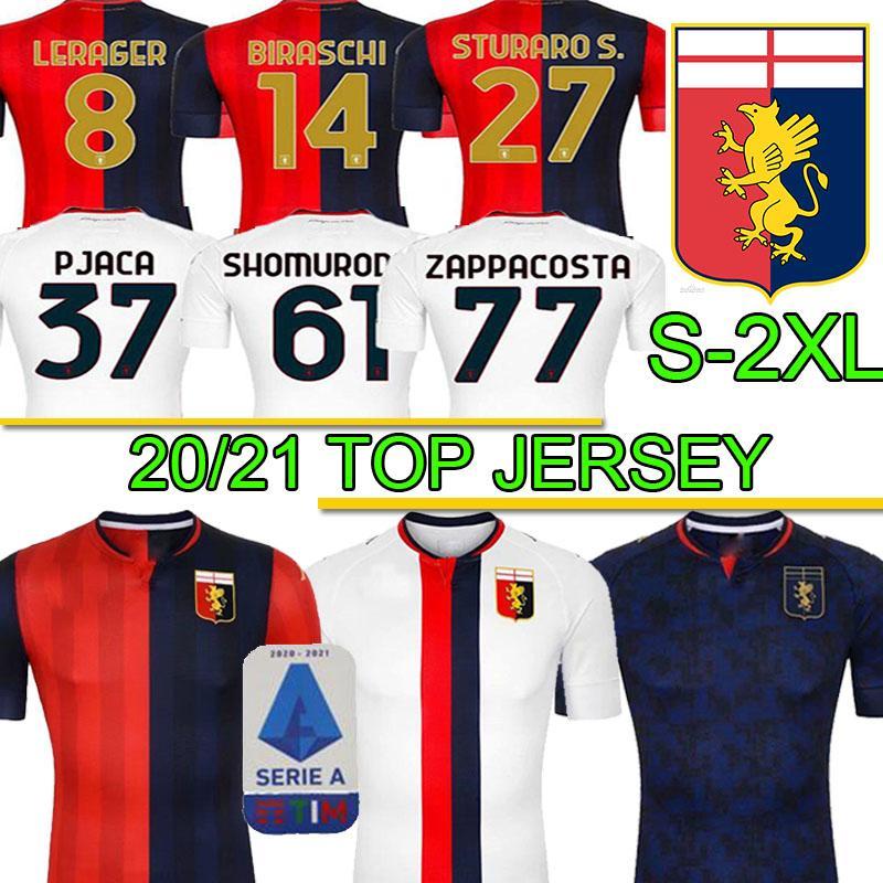 uomini uniformis Gênes C.F.C Football Maillots 2020 21 Football Maillots Zappacosta Maglia Pandev Cassata hommes Pjaca football chemises S-2XL