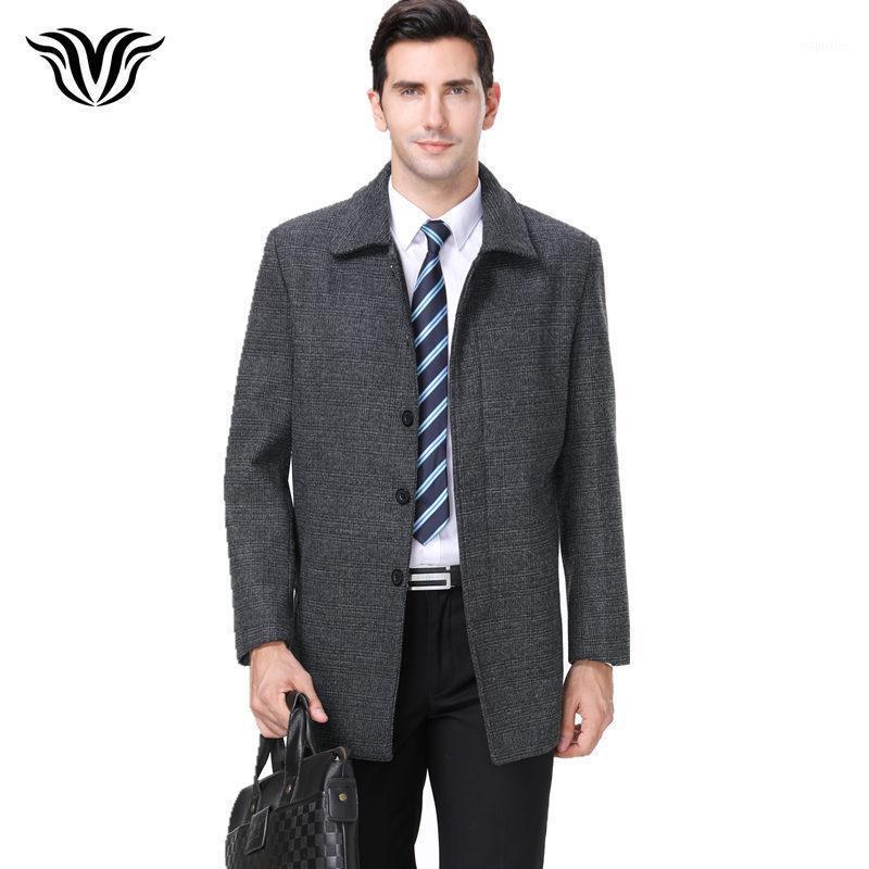 2018 hiver nouveau style mode chaude grise de laine de laine de haute qualité revers métier d'hommes d'occasion manteau occasionnel1