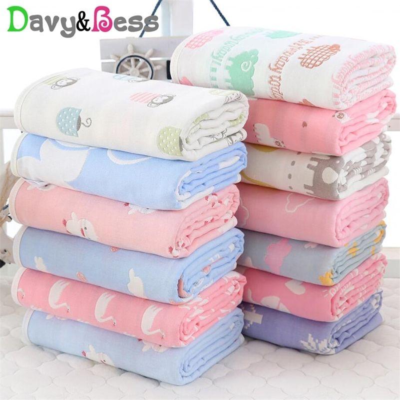 6 Schichten Muslin Babydecke Neugeborenen Baumwolle Muslin Swaddle Wrap Kinderdecke Baby Swaddle Decke Square Winter Quilt Bath 201111